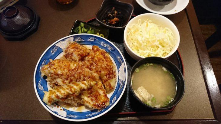 厳島神社に行く前に「みやじまぐち」で穴子天丼定食を食べた!