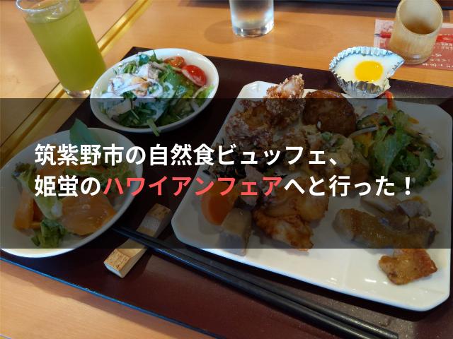 筑紫野市の自然食ビュッフェ、姫蛍のハワイアンフェアへと行った!