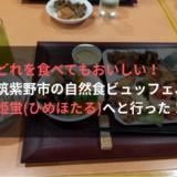 どれを食べてもおいしい! 筑紫野市の自然食ビュッフェ、姫蛍へと行った!