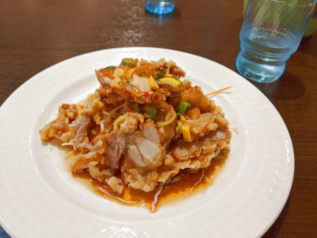小倉北区にある中華料理 唐彩で油淋鶏を食べた!