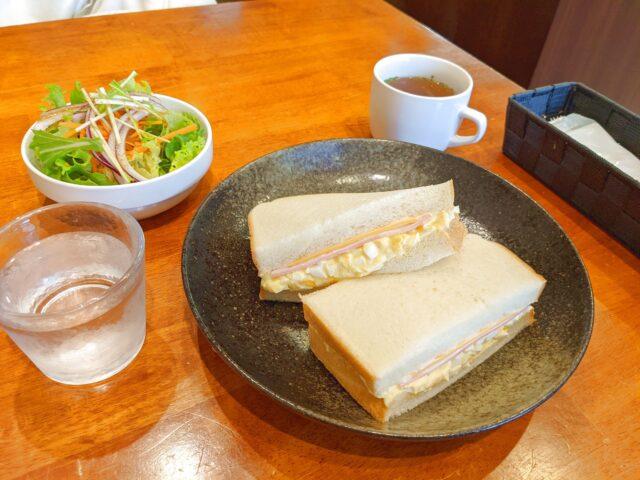 小倉南区にあるプチ・ラパンでサンドイッチセットを食べた!