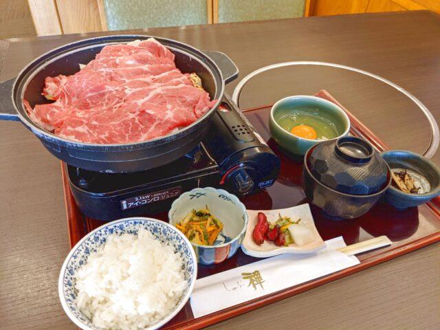 小倉北区にあるしゃぶ禅ですき焼き膳を食べた!