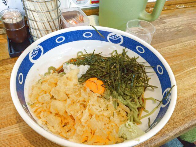 若松区にある籔そばでスタミナそばを食べた!