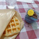 門司区にある「もじのちいさなおかしやさん」でワッフルとバスクチーズケーキを食べた!