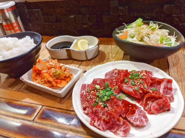 小倉北区にある焼肉酒場にくまる 平和通り店で黒毛和牛食べ放題を食べた!