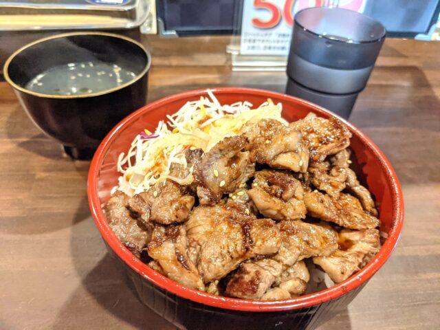 小倉北区にある焼肉丼専門店モ~モ~でカルビ丼を食べた!